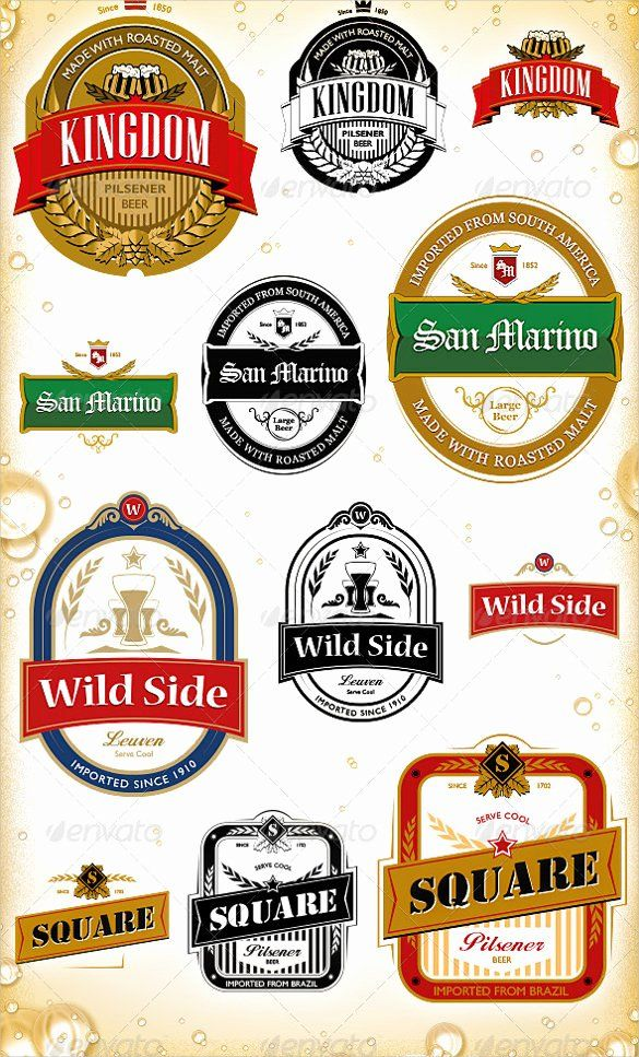 Beer Label Template Free In 2020 Label Templates Label Template
