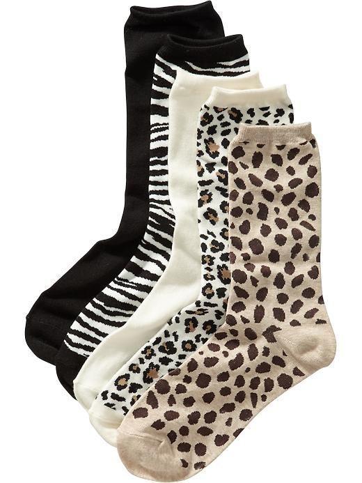 Women's Animal-Print Sock 5-Packs Product Image