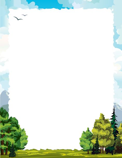 Printable forest border. Free GIF, JPG, PDF, and PNG downloads at http://pageborders.org/download/forest-border/