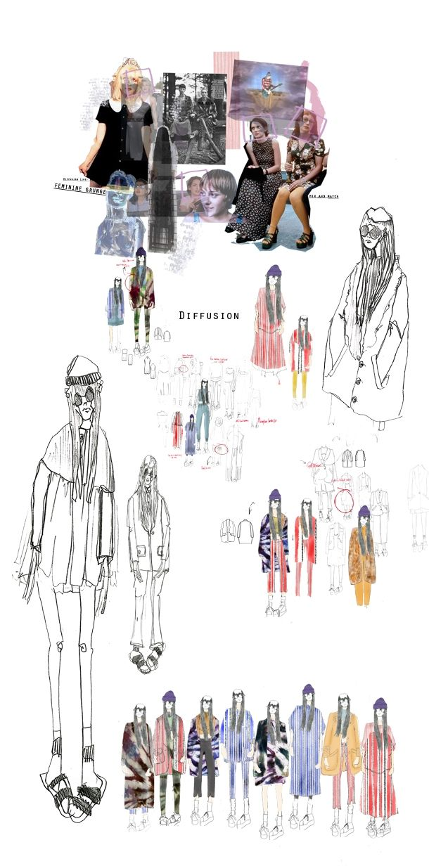 Fashion Design Development - fashion sketchbook; fashion illustration; fashion portfolio // Diffusion Collection, Emilie Hale