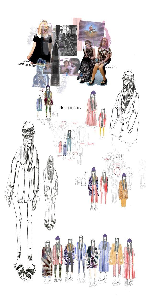 Fashion Design & Development - fashion sketchbook; fashion illustration; fashion portfolio // Diffusion Collection, Emilie Hale