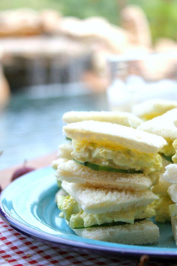 Avocado Egg Salad Tea Sandwiches