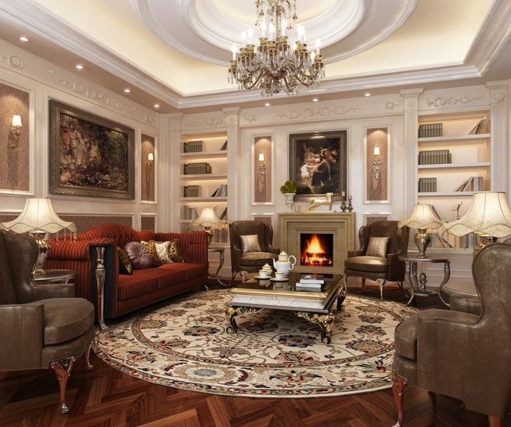 classic living room ideas. Classic Style Living Room With Round Carpet 34 best Luxury Design images on Pinterest  Colours