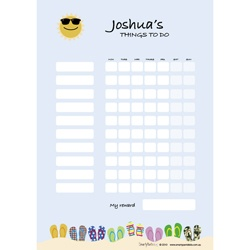 Wipeable Routine Charts available in loads of different designs and colours.