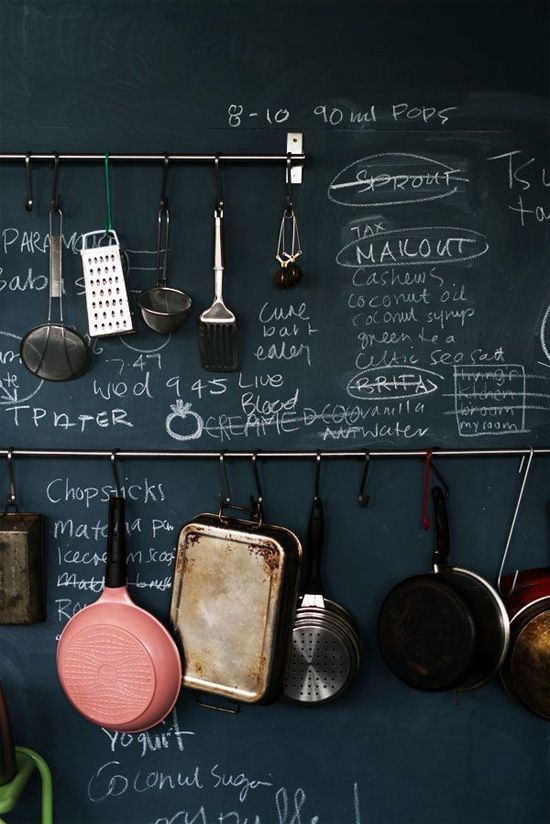 Kitchen chalkboard wall This is exactly what I want to do!