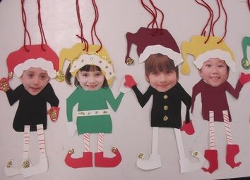 Make your kids into elves for a personalized ornament.