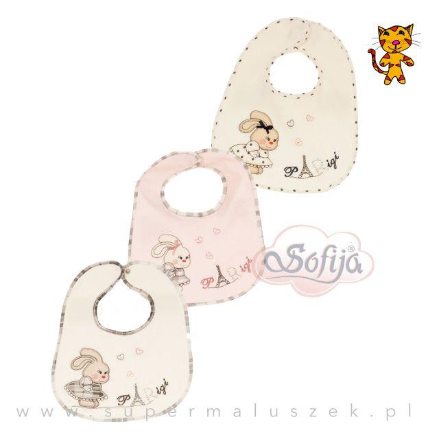 Śliniak Judytka marki Sofija wykonany jest z miękkiej bawełny. Uroku dodają mu ładne zwierzęce nadruki i ozdobna lamówka, którą wykończono jego brzegi. #karmienie #dziecko #baby #sliniak #feeding #food #eating #cute
