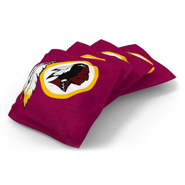 Wild Sports Washington Redskins Regulation Cornhole Bean Bag Set 4 Pack