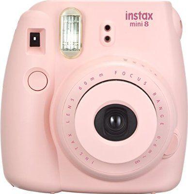 Fujifilm Instax Mini 8 Fotocamera Istantanea per Stampe Formato 62x46 mm, Rosa