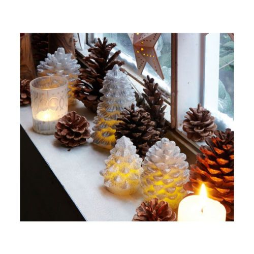 [Hanssem Interior] Christmas LED Candle Set (4PCS) Warm Christmas Decorations