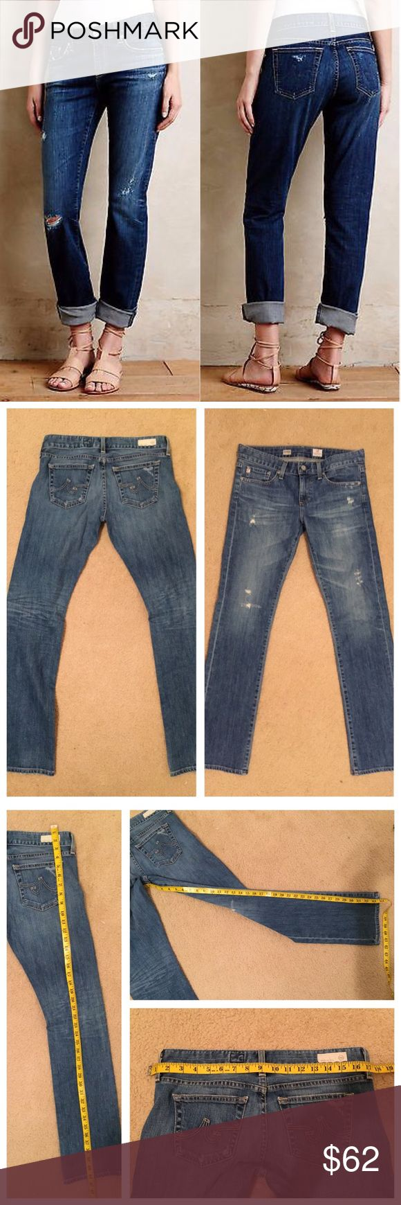 Anthropologie tomboy relaxed straight jeans Size 28 R. By AG Adriano goldschmied gently worn and super cute on! 🙆🏻no trades or off site transactions.I offer a variety of sizes therefore I do not model🙅🏻Please accept that I will counteroffer the lowest amount I'm willing to take at that point😁I have an illness that sometimes requires serious medical attention & 2 little ones👶🏼👶🏻so if I don't respond I'm either very ill that day🚑 or have been kidnapped by my kids.Thank you for…