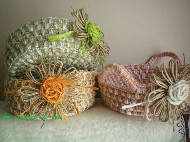 my crochet basket for easter