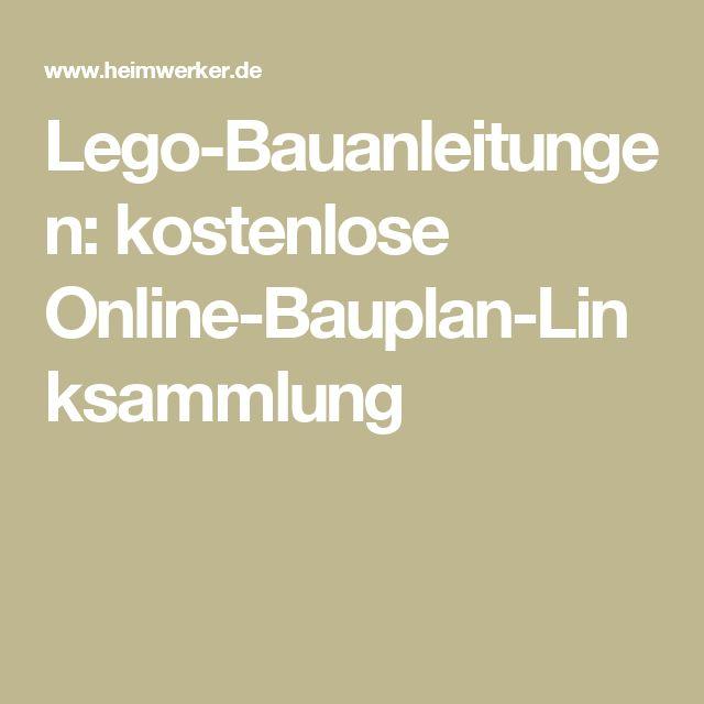 Lego-Bauanleitungen: kostenlose Online-Bauplan-Linksammlung