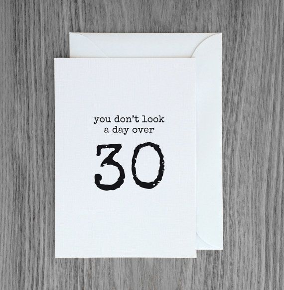 30th birthday card, Funny birthday card, over 30 birthday, getting older card, happy birthday card