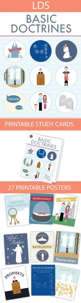 Basic Doctrines Posters and Study Cards - The Redheaded Hostess