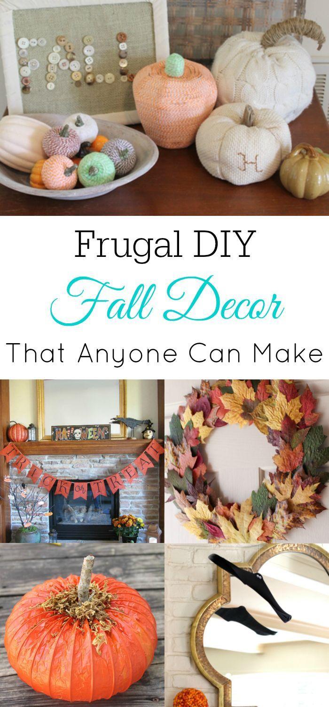 Frugal Fall DIY Decor, Fall Home Decor, Fall Crafts