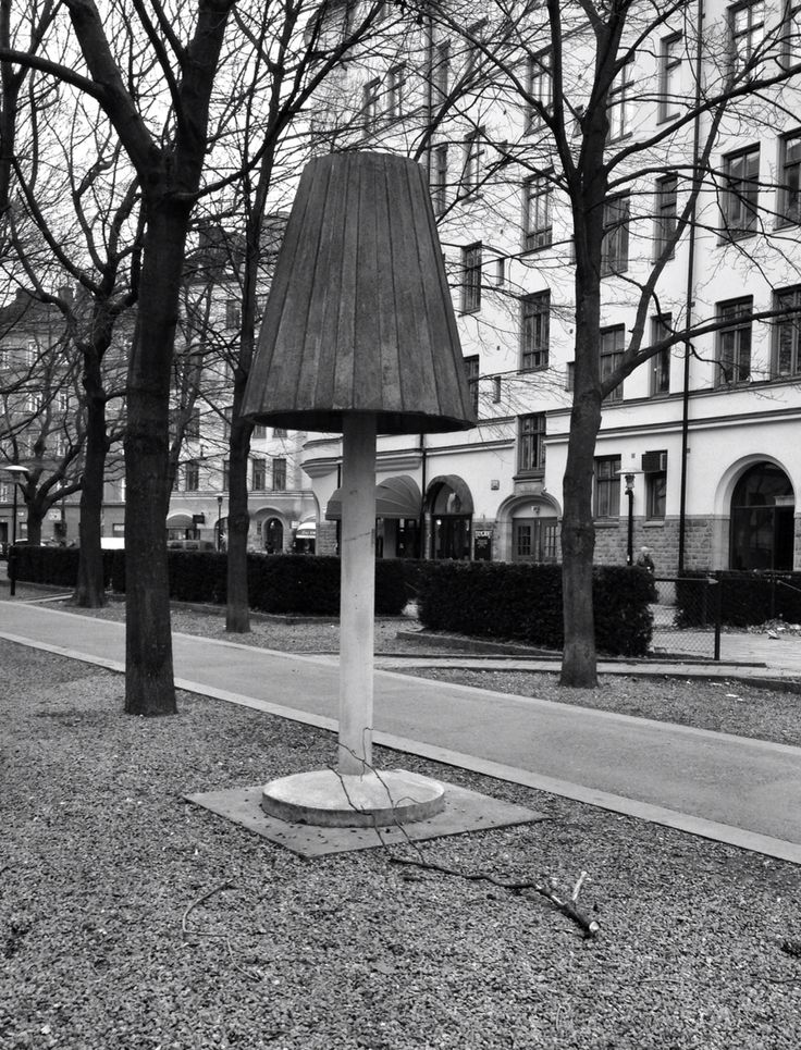 Beautiful concrete lamp in Sodermalm