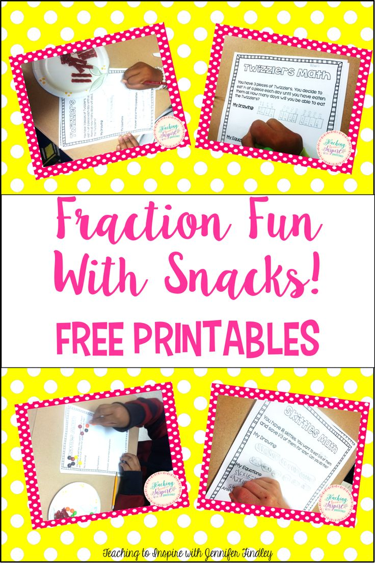 Multiplying And Dividing Fractions: Fraction Fun With Snacks! {freebies