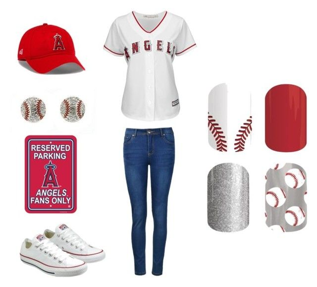 """jamberry sports"" by kellie-guravich-medivitz on Polyvore featuring Ally Fashion, Majestic and Converse"