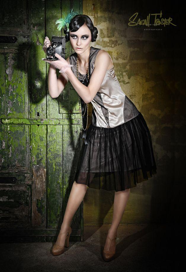 Knielange Kleider - VECONA VINTAGE Charlestonkleid, 20er, Gatsby - ein Designerstück von Vecona-Vintage bei DaWanda