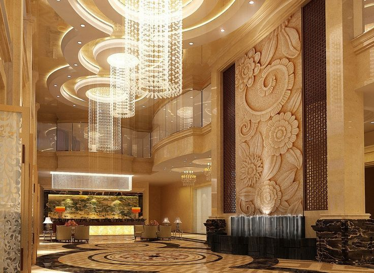 Luxury lighting design lobby