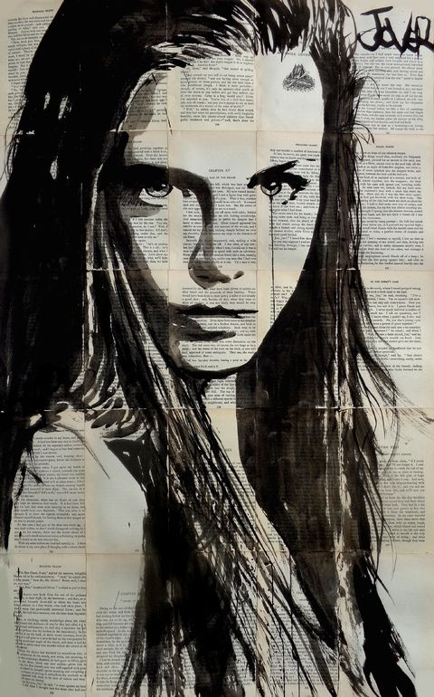 "Saatchi Online Artist: Loui Jover; Ink 2013 Drawing ""icelandia (SOLD)"""