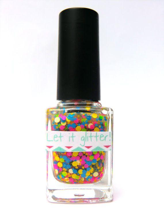 Glitter nagellak  Neon Matteness by Letitglitter on Etsy, €7.00