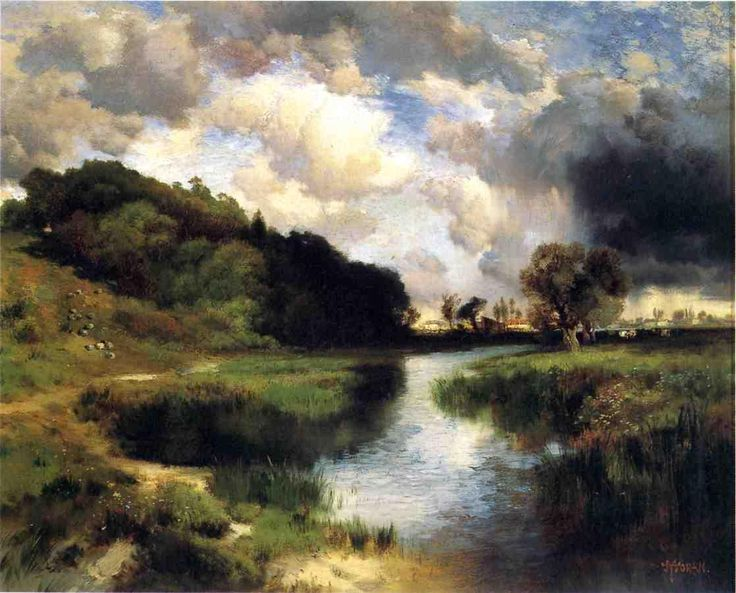 Cloudy Day at Amagansett 1884 painting