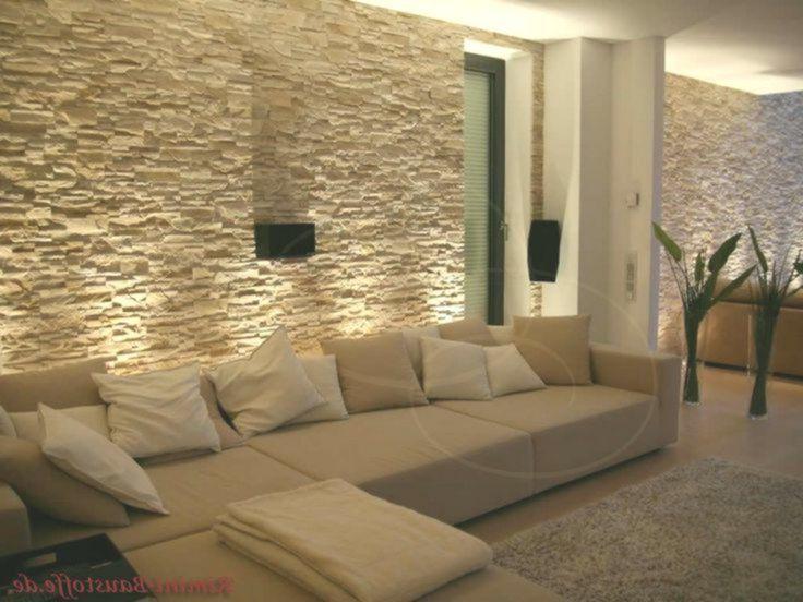 Soggiorno con muro di pietra con illuminazione nel 2020 ...