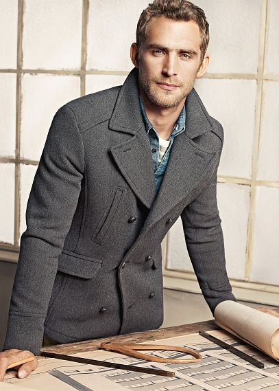 1000  images about Peacoat on Pinterest | Mens fall Wool and Grey
