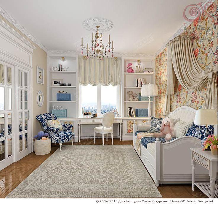 Дизайн интерьера детской комнаты в ЖК «Дом на Давыдковской»  http://www.ok-interiordesign.ru/ph_dizain-detskoy-komnaty.php