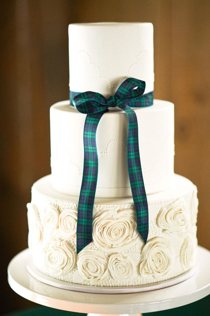Wedding Cake design by Lovely Cakes | See more on SMP: http://www.StyleMePretty.com/tri-state-weddings/2014/03/17/tartan-and-tulle-inspiration-shoot/ Charlotte Jenks Lewis Photography
