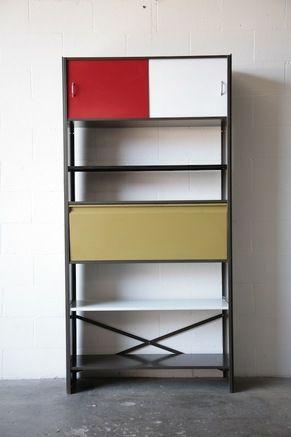 Tjerk Rijenga, Storage Cabinet with Drop Down Door for Pilastro, c1960.