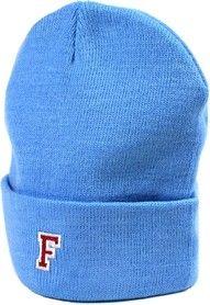 beanie blue, patch, F-Logo, varsity Shop now // www.flatkicks.com
