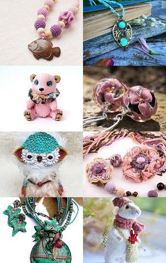 My mint owly was added to Handmade gift by Elena Barkova on Etsy