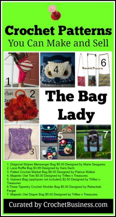 Crochet Patterns I Can Make And Sell : Crochet Bags You Can Make and Sell online or at craft markets. Create ...