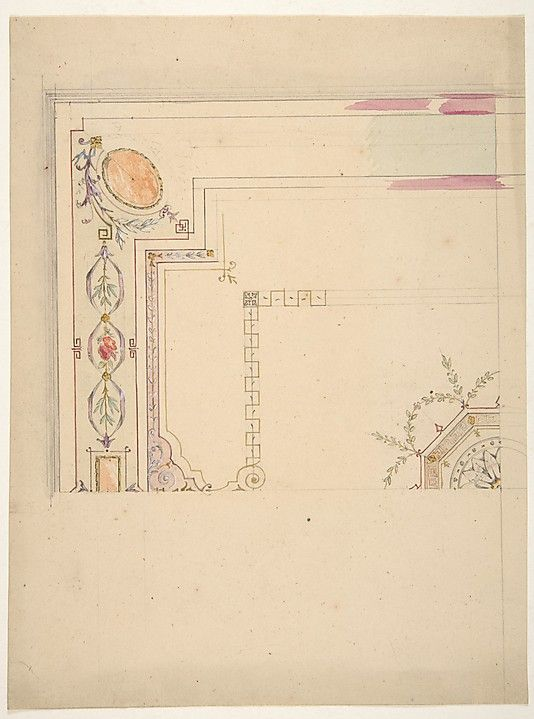 Design for a Ceiling Jules-Edmond-Charles Lachaise