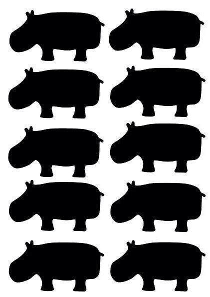 De nijlpaard muurstickers zijn 65x30 mm, er zitten er 10 op een vel. Ze zijn gemaakt van een matte stickerfolie van zware kwaliteit. De stickers zijn makkelijk verwijderbaar en opnieuw te gebruiken. Zowel binnen als buiten toepasbaar. Verkrijgbaar in de kleuren zwart, wit, mintgroen, roze, fuchsia roze, blauw, marine blauw en glanzend zilver.