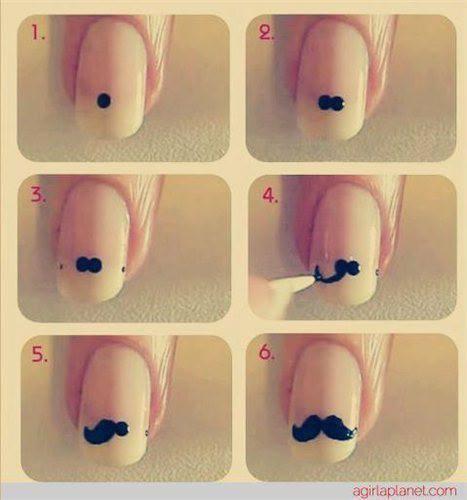 Me encanta esta idea de como hacer un Moustache.