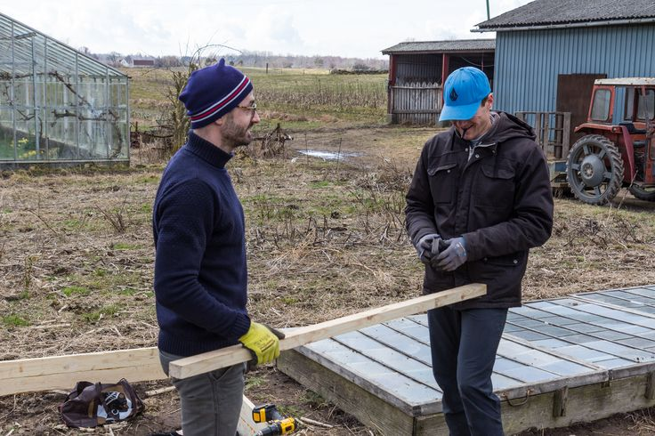 Organic flower farming, building hotbed, March 2016