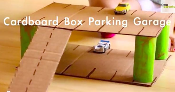 Calling all cars! Keep kids busy and engaged with this crafty cardboard parking garage. #pbscraftsforkids