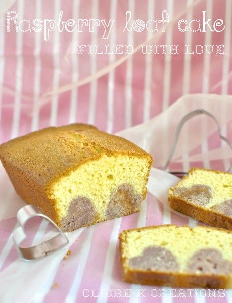Raspberry loaf cake filled with love - Claire K Creations