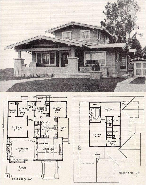 E. W. Stillwell - Airplane Bungalow - c. 1918 - Representative California Homes