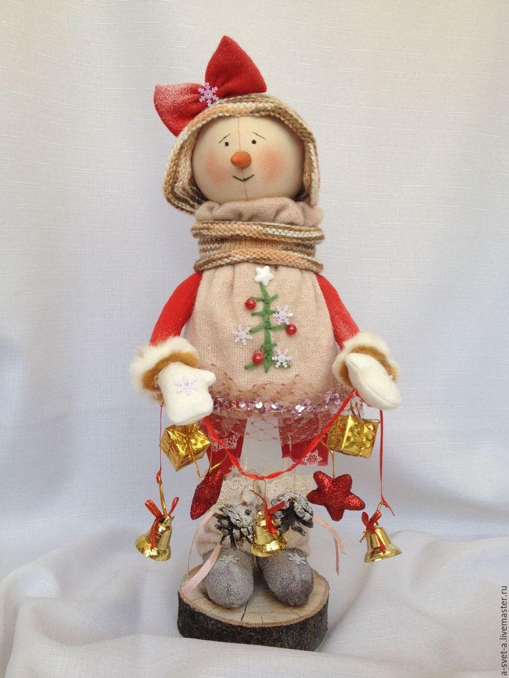 Купить Снеговик 2017 - ярко-красный, Новый Год, подарок на новый год, снеговик