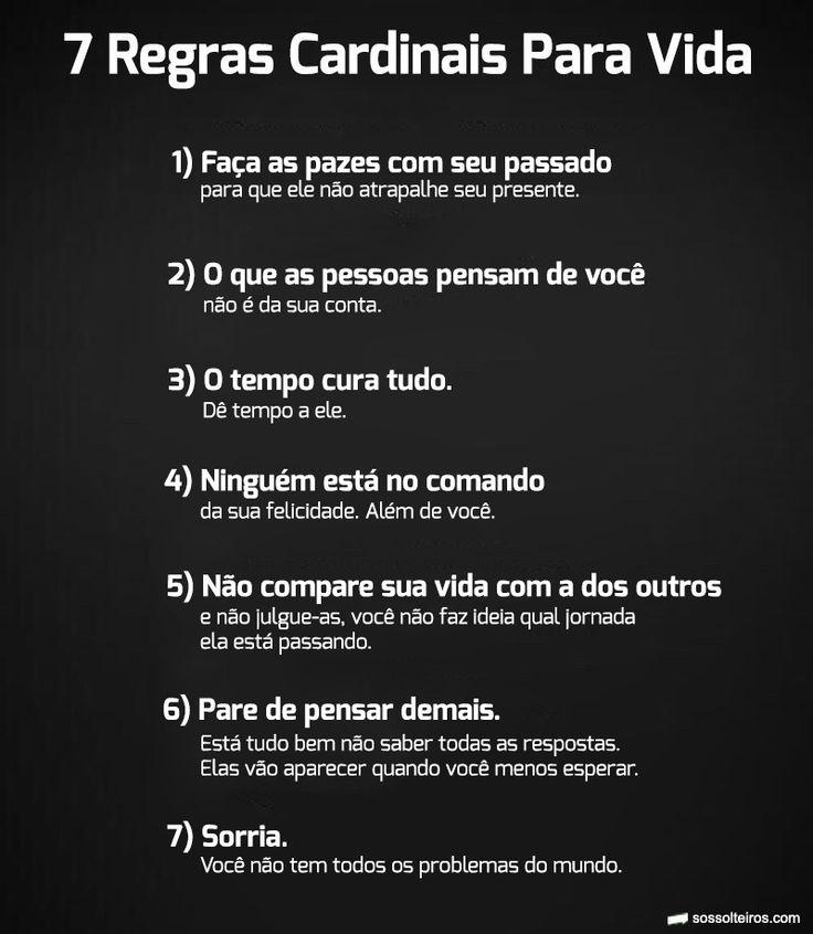 7 Regras cardinais para vida