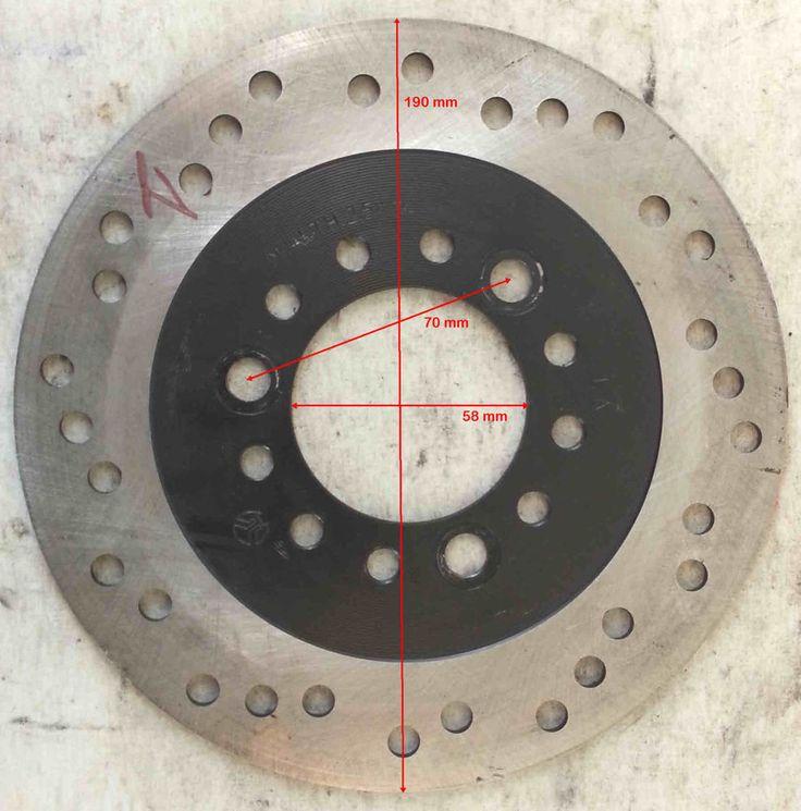 DISCO FRENO D.est.190 D.int.58 sp.3,7 mm distanza viti 70 mm