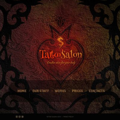 Tattoo Salon Bootstrap Website Template