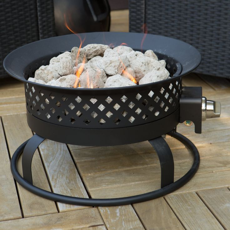 Have to have it. Bond 18.5 in. Portable Propane 50,000 BTU Campfire Fire Pit - $99.98 @hayneedle