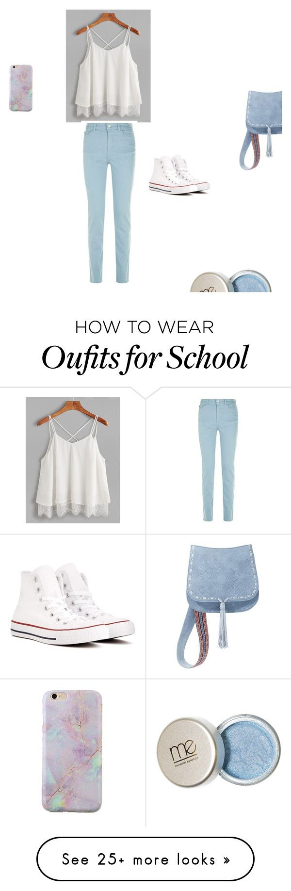 """high school"" by josephine-henderon on Polyvore featuring Armani Jeans, Converse and Steve Madden"