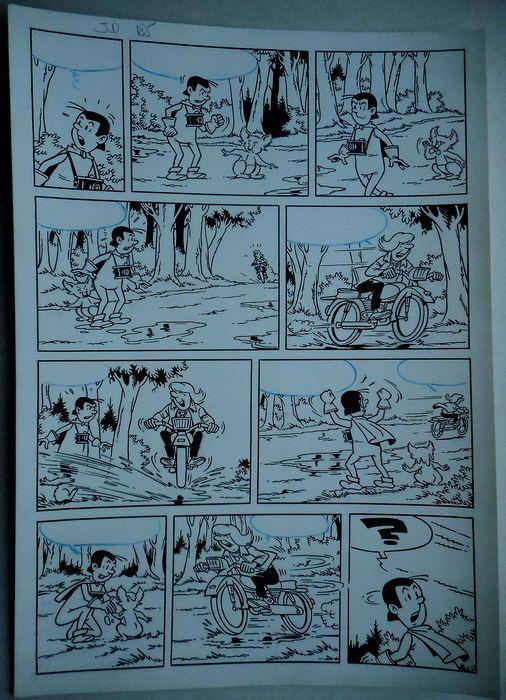 Studio Vandersteen - Originele pagina (p.2) - Jerom - De zwarte vlekken - (begin jaren '70)  Originele pagina van Jeromdoor Studio VandersteenDe zwarte vlekkenGeldt als nummer 185 in de Duitse nummering gehanteerd door de Studio Vandersteen.  EUR 1.00  Meer informatie
